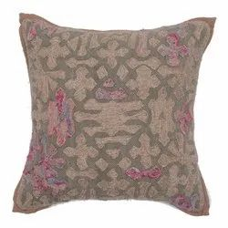 Exclusive Embroidery Work Accent Cotton Cushion Cover
