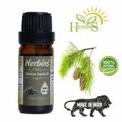 Herbins Cedarwood Essential Oil, Packaging Type: Amber Glass Bottle