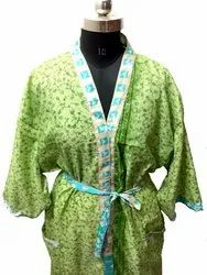 Silk Saree Bathroom Wear /Night Wear Kimono-Beach Wear