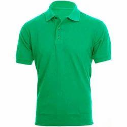 Male Casual Wear Plain Collar Neck T Shirt, Size: Xl