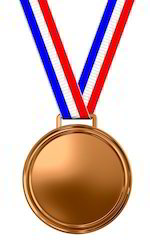 Round Copper Medal