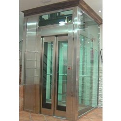 Traction Glass Elevator, Max Persons/Capacity: 6 Persons, With Machine Room