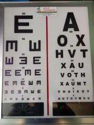 ASF LED Vision Chart 6 Meter 2 Lang.