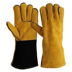Yellow Leather Welding Gloves
