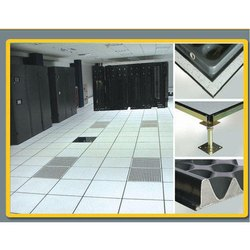 Steel False Flooring System, Size: 2ft X 2 Ft, For Server Rooms