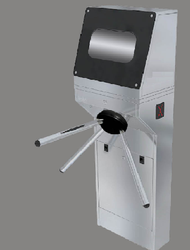 SmartTek Tripod Turnstile With Sanitizer Dispenser