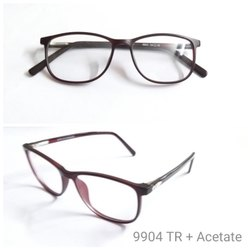Demo Lens Acetate Spectacle Frame With Tr90 Unbreakable 9904