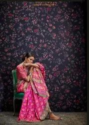 Looking Beautiful Designer Potla Print  Saree