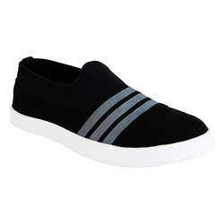 Black Grey Casual Slip On Shoes