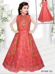 Pink Kids Indo Western Dress