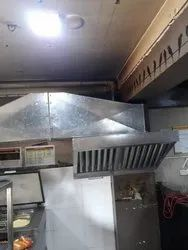 Commercial Kitchen Hood and Ducts, Finish: Matt