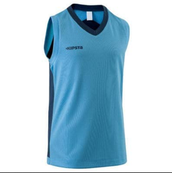 Decathlon Blue B500 Kids Basketball Jersey Blue
