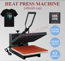 Semi-Automatic T-Shirt Heat Press Machine 40x60cm (16x24 Inches)