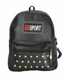 Texture Black Backpack