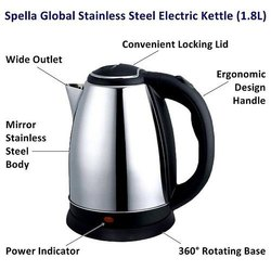 Spella Global 1.8L Cordless Electric Kettle