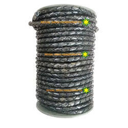 Antique Rustic Grey Braided Leather Cord
