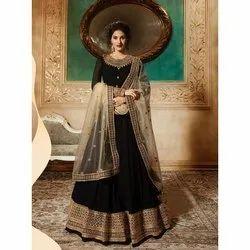 Shiroya Wedding Ladies Chanderi Suit, Size: S-xl