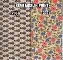 Muslin Semi Print Fabric