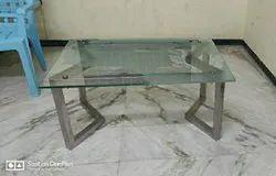 White Glass Tea Table, Size: 2feet X 2.5 Feet
