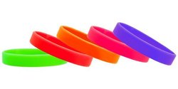 Rubber Silicone Wristbands, Size: 12mm & 18mm