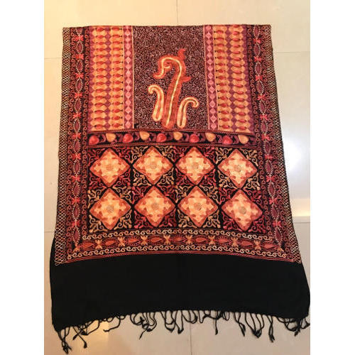 d4b5ab897d Casual Wear Heavy Embroidery Pashmina Stole, Size: 70x200 Cm, Rs ...