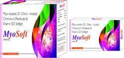 Myo-inositol D-Chiro Inositol Chromium Picolinate and Vitamin D3 Softgel