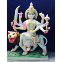 Gold Plated Marble Durga Statue