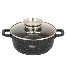 Hoffner Aluminium Die Cast Aluminum Round Cook and Serve Pot for Home, Capacity: 2.3 L