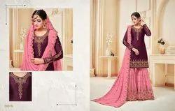 c5043d82ad Georgette Semi-Stitched Meera Trendz Zisa Present Suit, Rs 1875 ...