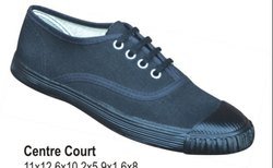 Poddar Centere Court Black Canvas Shoe