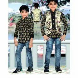 Boys Designer Waistcoat Set