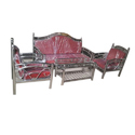 Stainless Steel Red Sofa Set