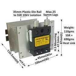 200 AMP DC TO AC SOLID STATE RELAY