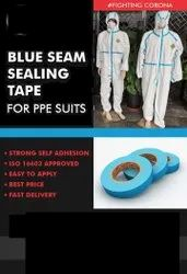 Blue Seam Sealing Tape for PPE Kit Without Releaser Direct Sticking