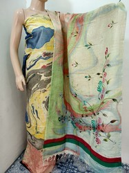 INAYAT SILK FAB Multicolour Ladies Unstriched Suits