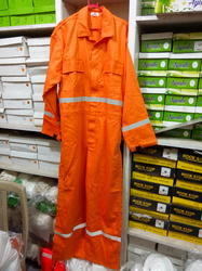 Cotton Coverall With Reflected  Tape