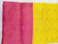 Silk Real Zari Gold Uppada Pattu Sarees, 6.3 m (with blouse piece), Hand Made
