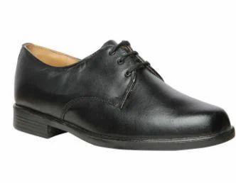 Bata Black Formal Lace-Up Shoes For Men