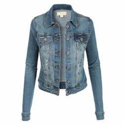 Blue Girls Full Sleeve Jacket