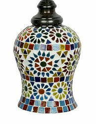 Mosaic Glass Hanging Lamp, For Home, Thickness: 3 Mm