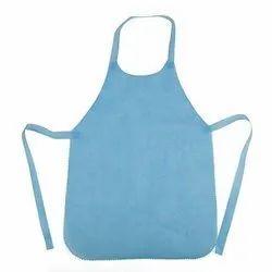 Blue Plain Disposable Non Woven Apron, Size: X-XXL