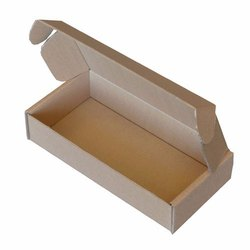 White Rectangle Corrugated Die Cut Box, Ply: 3