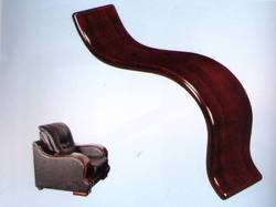 N/A BROWN Sofa Wooden Arms