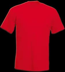 Non-Sublimation Red Cotton T-Shirt