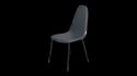 Dinning Chair - Vitric Metal Dining Chair