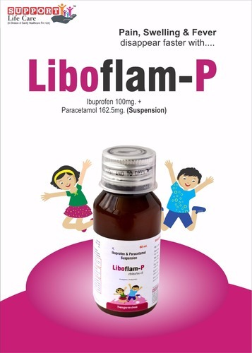 Ibuprofen 100mg Paracetamol 162.5mg/5ml Syrup