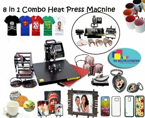 8 In 1 Combo Heat Press For Key Chains Printing
