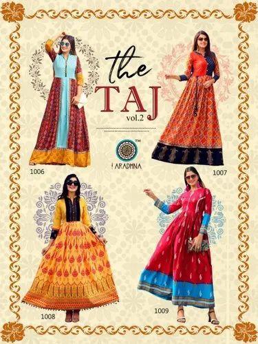 Taj Vol 2 By Aradhna  Rayon Printed Fancy Designer Kurti