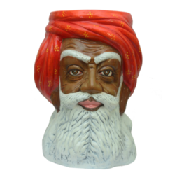 Rajasthani Man Face Side Stool