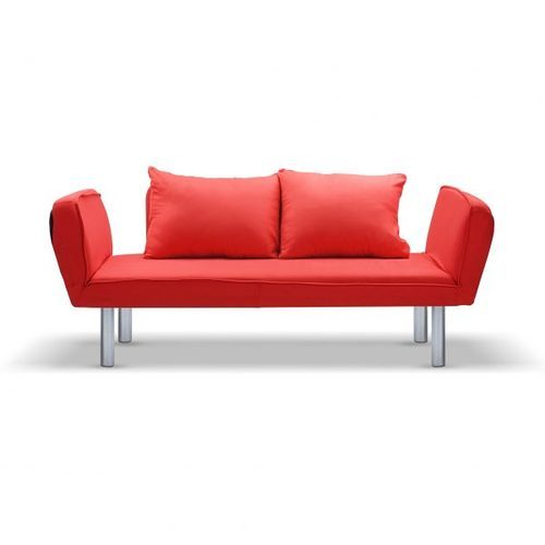 Red Two Seater Sofa Diwan Bed For Home